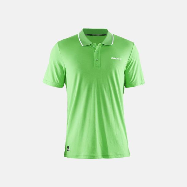 Craft Green Herr (Logga bröst) Pikétröjor från Craft i herr- och dammodell med reklamtryck