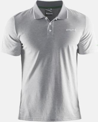 Melange Grey  Herr (Logga bröst) Pikétröjor från Craft i herr- och dammodell med reklamtryck