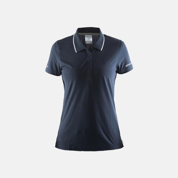 Dark Navy/Vit (dam) Pikétröjor från Craft i herr- och dammodell med reklamtryck