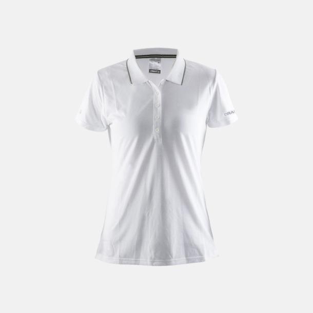 Vit/Graft Green (dam) Pikétröjor från Craft i herr- och dammodell med reklamtryck