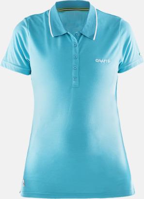 Resort Dam (logga bröst) Pikétröjor från Craft i herr- och dammodell med reklamtryck