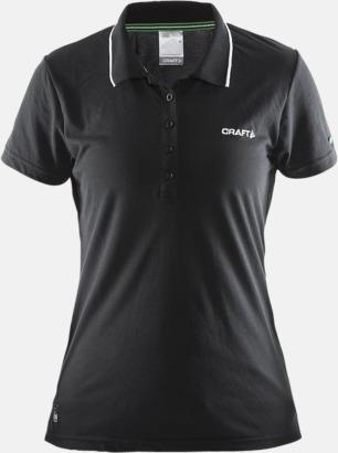 Svart Dam (logga bröst) Pikétröjor från Craft i herr- och dammodell med reklamtryck