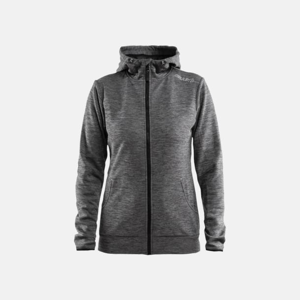 Dark Grey Melange Leisure Full Zip Hood (dam) Craft funktionsjacka med huva i herr- och dammodell med reklamtryck