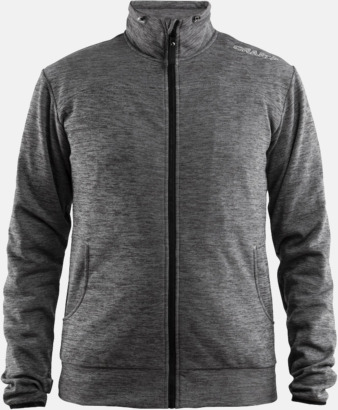 Leisure Jacket Dark Grey Melange (Herr) Craft funktionsjacka med huva i herr- och dammodell med reklamtryck