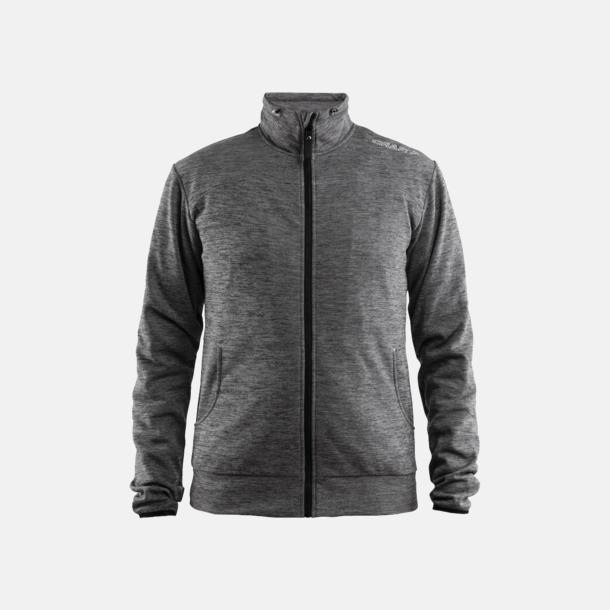 Dark Grey Melange Leisure Jacket (Herr) Craft funktionsjacka med huva i herr- och dammodell med reklamtryck
