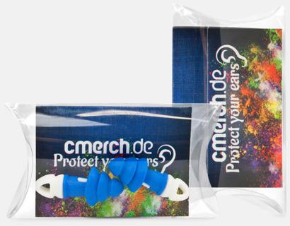 Transparenta plastboxar med öronproppar - med reklamtryck
