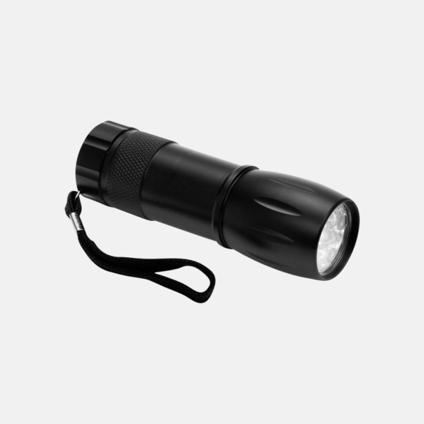 Svart Ficklampa Mini med eget reklamtryck