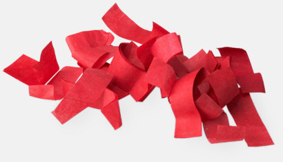 Pappers konfetti Röd Konfettikanoner