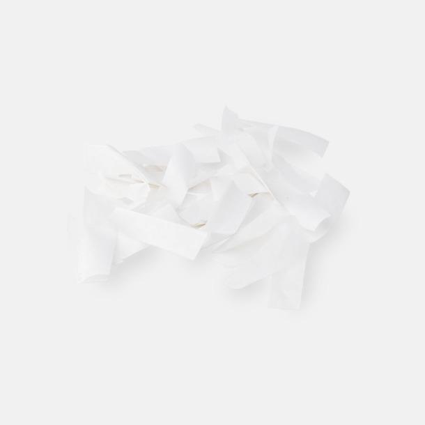 Pappers konfetti Vit Konfettikanoner