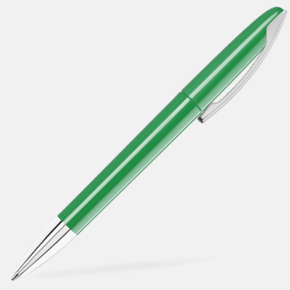 Middle Green Bläckpennor med blanka, opaka kroppar - med reklamlogo
