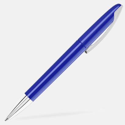 Mörkblå Bläckpennor med blanka, opaka kroppar - med reklamlogo