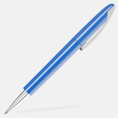 Medium Blue Bläckpennor med blanka, opaka kroppar - med reklamlogo