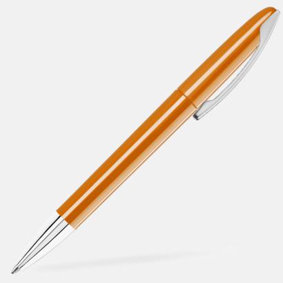 Orange Bläckpennor med blanka, opaka kroppar - med reklamlogo