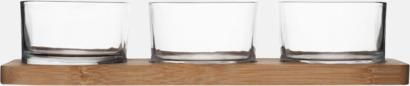 Transparent/Trä 4-delars serveringsset från Sagaform med reklamtryck