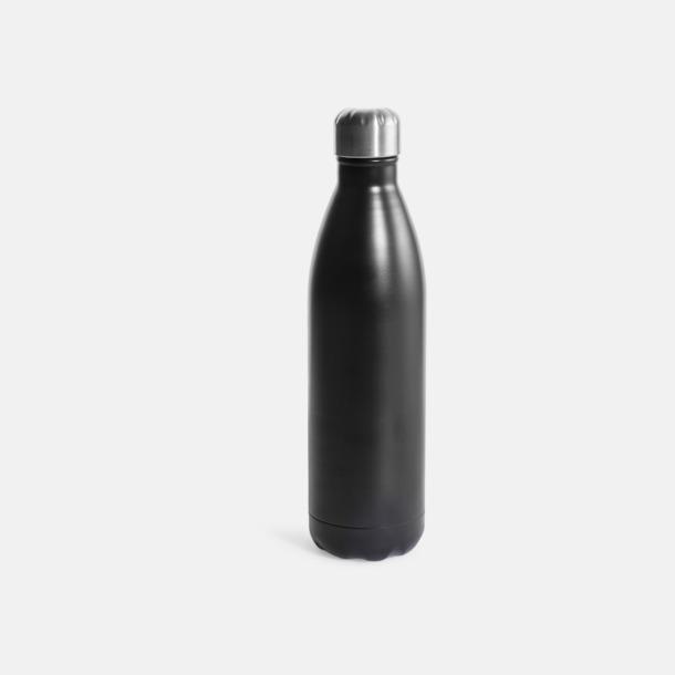 Svart Stora stålvakuumflaskor från Sagaform med reklamtryck