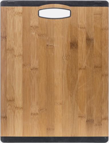 Trä/Svart Stora bambuskärbrädor med reklamtryck