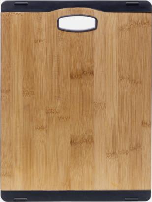 Trä/Svart Små bambuskärbrädor med reklamtryck