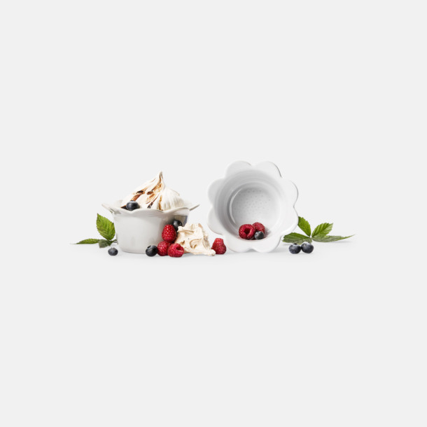 Vit Ugnsfasta småskålar från Sagaform med reklamtryck