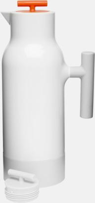 Vit / Orange Kaffekannor från Sagaform med reklamtryck