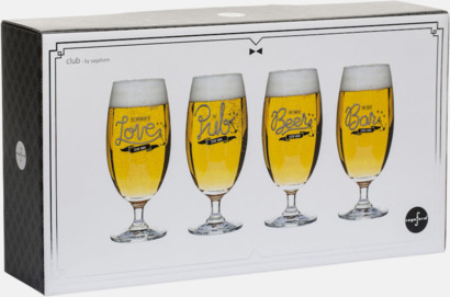 Giftbox 4-pack ölglas från Sagaform med reklamtryck