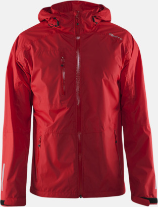 Bright red (herr) Craft regnjackor med eget tryck.