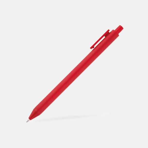 Röd Pennor i många färger med reklamtryck