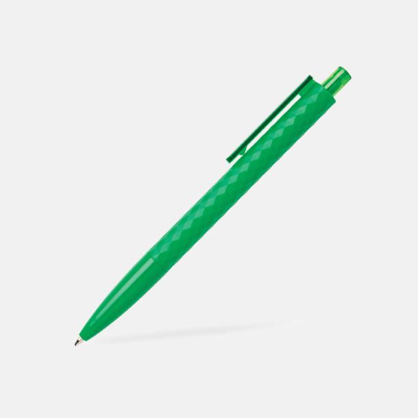 Grön Diamantmönstrade plastpennor med reklamtryck