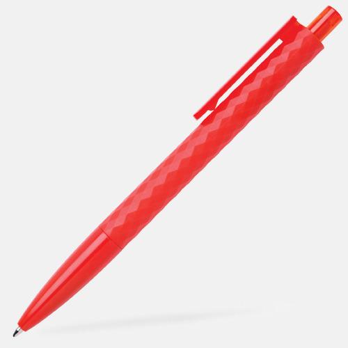 Röd Diamantmönstrade plastpennor med reklamtryck