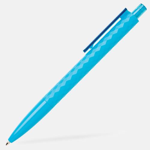 Ljusblå Diamantmönstrade plastpennor med reklamtryck