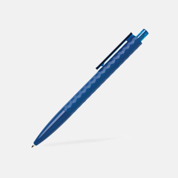 Marinblå Diamantmönstrade plastpennor med reklamtryck