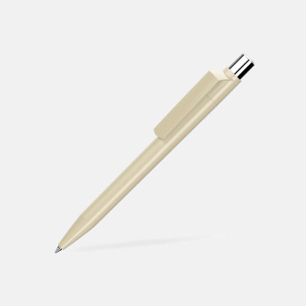 Beige Blanka pennor med reklamtryck