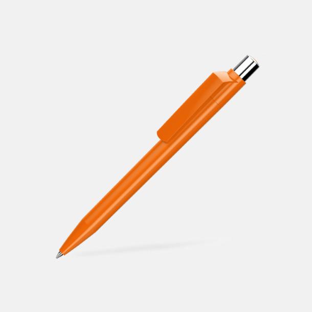 Orange Blanka pennor med reklamtryck