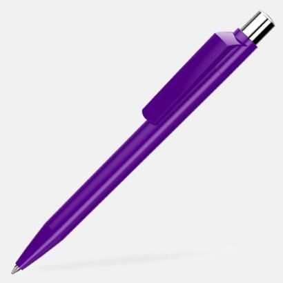 Dark Violet Blanka pennor med reklamtryck