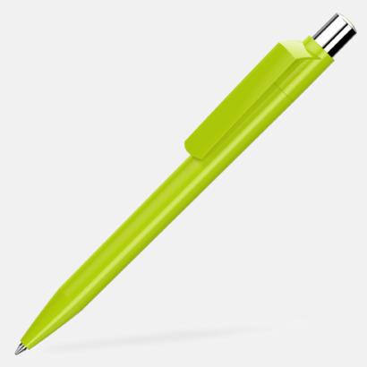 Ljusgrön Blanka pennor med reklamtryck
