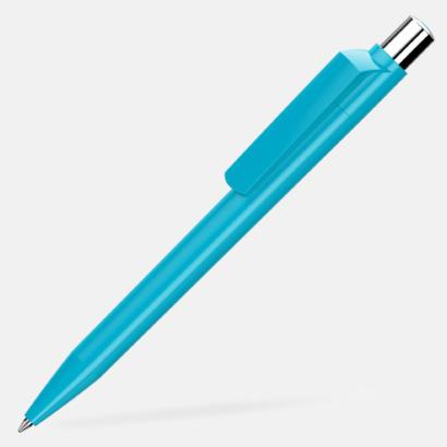 Cyan Blanka pennor med reklamtryck