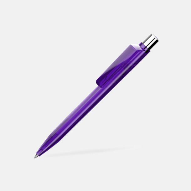 Dark Violet Unika plastpennor med reklamtryck