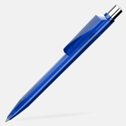 Mörkblå Unika plastpennor med reklamtryck