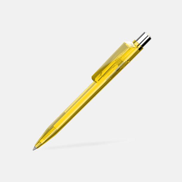 Gul Unika plastpennor med reklamtryck