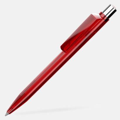 Röd Unika plastpennor med reklamtryck