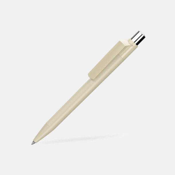 Beige Mjukare plastpennor med reklamtryck