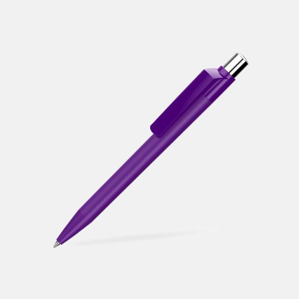 Dark Violet Mjukare plastpennor med reklamtryck