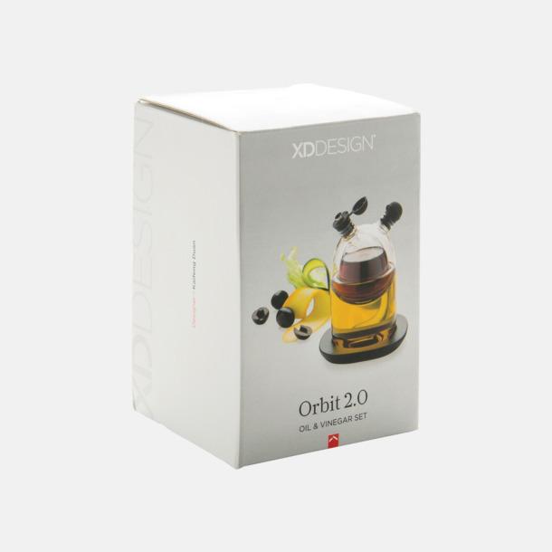 Presentförpackning Fina glasflaskor för vinäger & olja - med reklamtryck