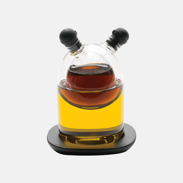 Fina glasflaskor för vinäger & olja - med reklamtryck