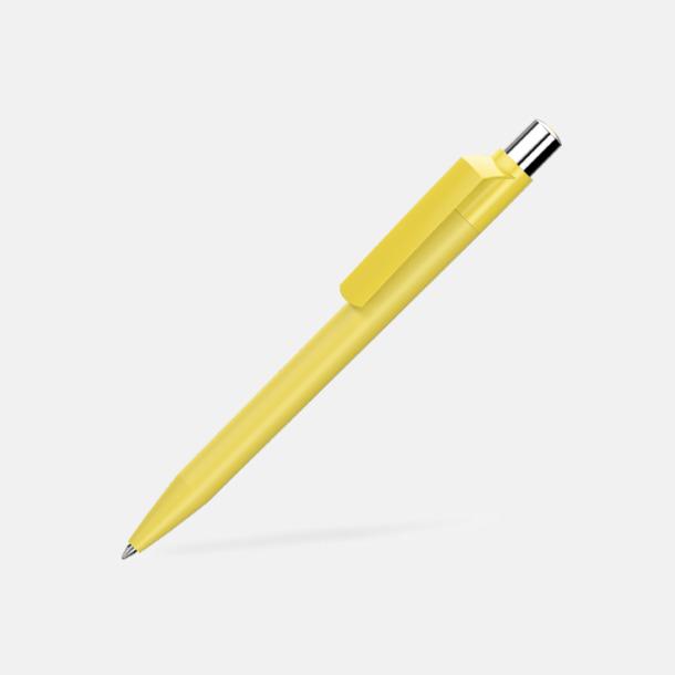 Gul Mjukare plastpennor med reklamtryck