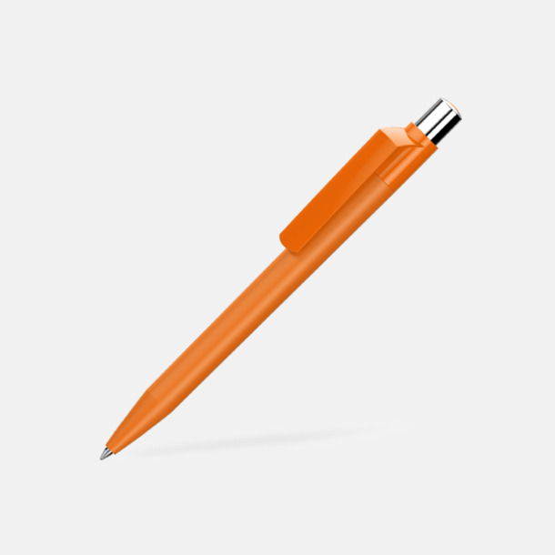 Orange Mjukare plastpennor med reklamtryck