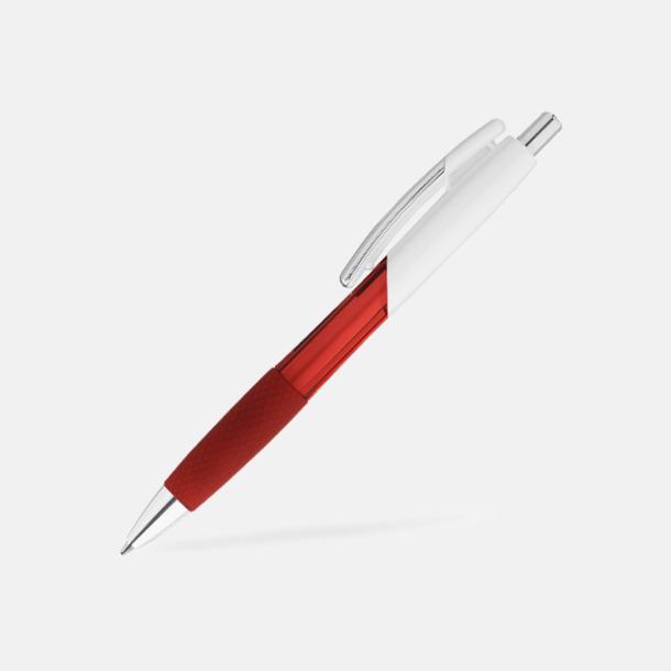 Röd / Vit Transparenta/solida pennor med reklam