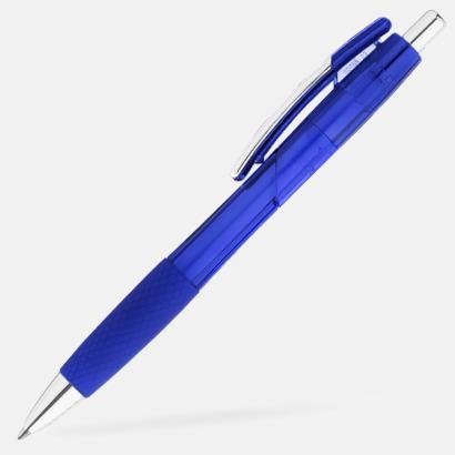 Blå Transparenta gelpennor med reklamtryck