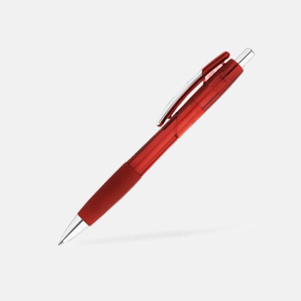 Röd Transparenta gelpennor med reklamtryck