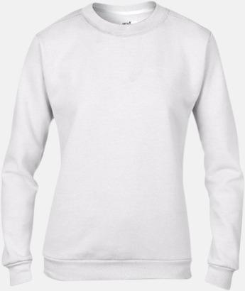 Vit (dam) Fleecetröjor med reklamtryck