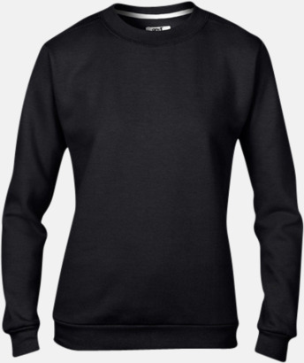 Svart (dam) Fleecetröjor med reklamtryck